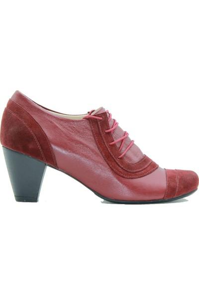 Tuğrul Ayakkabı 077 Tuğrul Kadın Topuklu Ayakkabı Bordo