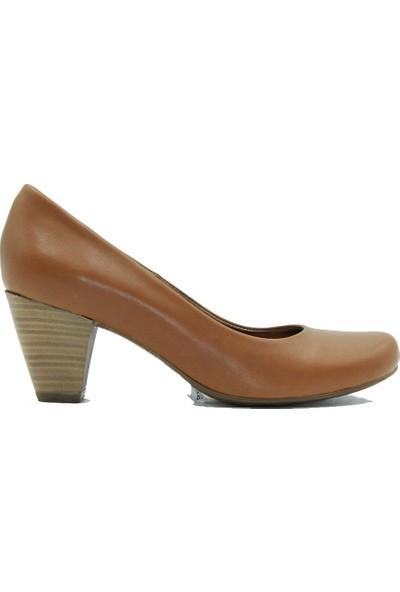 Tuğrul Ayakkabı 089 Tuğrul Kadın Topuklu Ayakkabı Taba