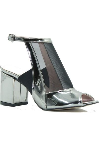 Meşhure 300 Meşhure Kadın Topuklu Ayakkabı Platin