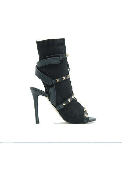 Meşhure 400 Meşhure Kadın Topuklu Ayakkabı Siyah