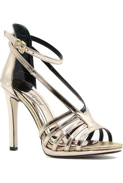 Meşhure 430 Meşhure Kadın Topuklu Ayakkabı Bronz