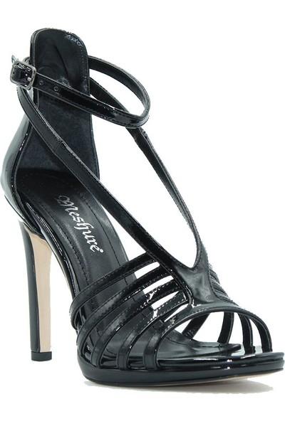 Meşhure 430 Meşhure Kadın Topuklu Ayakkabı Siyah
