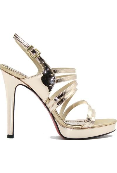 Meşhure 438 Meşhure Kadın Topuklu Ayakkabı Bronz