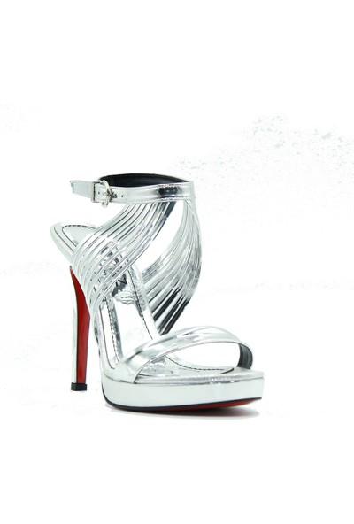 Meşhure 445 Meşhure Kadın Topuklu Ayakkabı Gümüş
