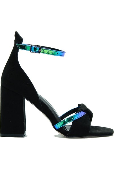 Lonar 230 Lonar Kadın Topuklu Ayakkabı Siyah Süet
