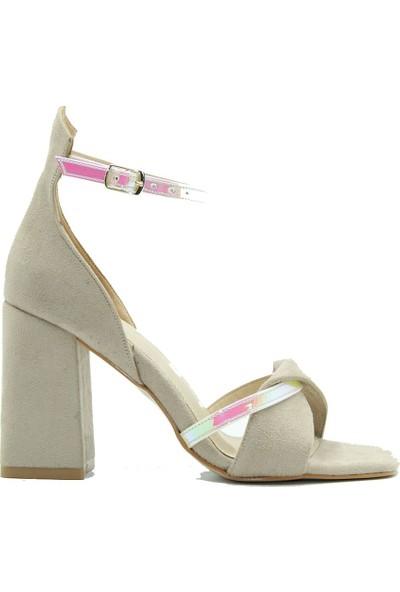 Lonar 230 Lonar Kadın Topuklu Ayakkabı Bej Süet