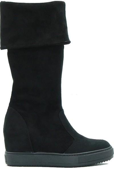 Park Moda 128-250 Kadın Çizme Siyah Süet