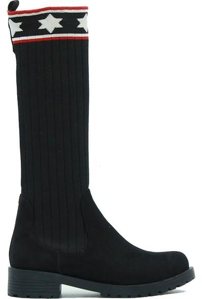 Seribo 701 Kadın Çizme Siyah