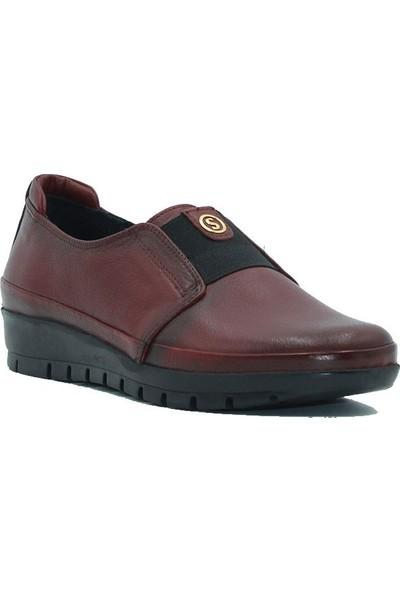 Scavia 18-880 Kadın Günlük Ayakkabı Bordo