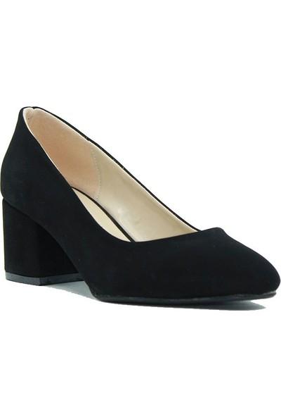Layd Miranda 8110 Layd Miranda Kadın Topuklu Ayakkabı Siyah Süet