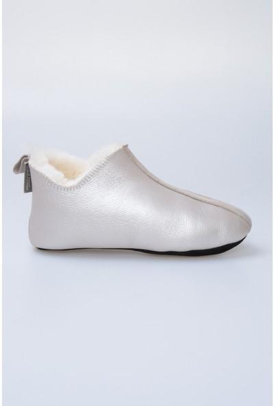 Pegia Hakiki Kürk Kadın Ev Ayakkabısı 980446