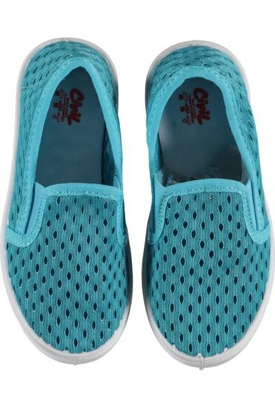 Civil Erkek Çocuk Keten Ayakkabı 26 - 30 Numara Turkuaz