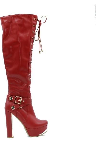 Mario Muzzi 102 Bayan Çizme Kırmızı