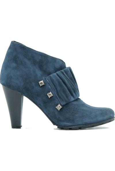 Tuğrul Ayakkabı 1019 Kadın Bot Lacivert.Süet