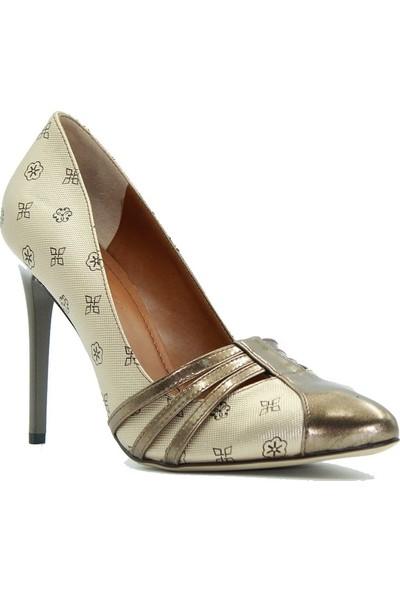 Pierre Cardin 001854 Kadın Topuklu Ayakkabı Altın