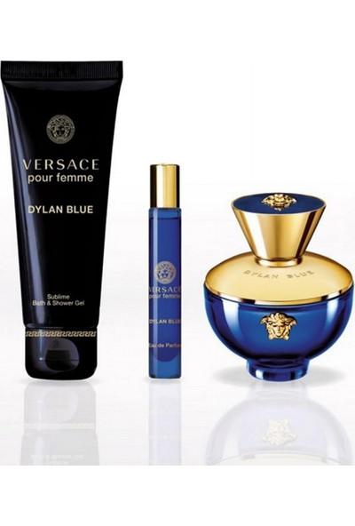Versace Dylan Blue Pour Femme Edp 100 ml Kadın Parfüm Seti