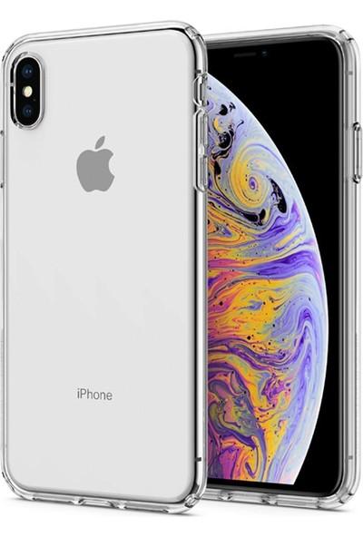 Aktif Aksesuar Apple iPhone Xs Max Şeffaf Silikon Kılıf Ultra Ince Lens Korumalı Tıpalı Kapak