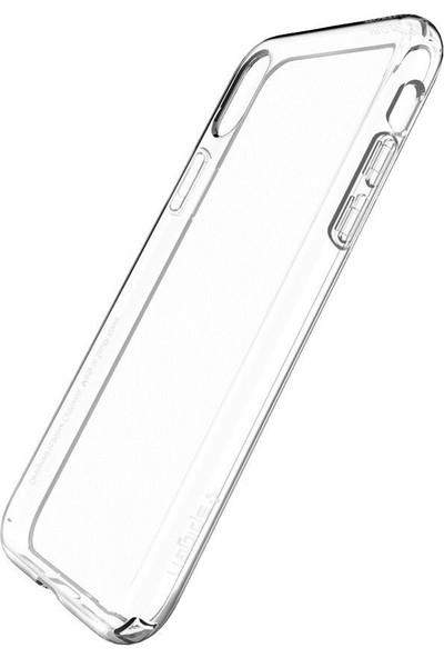 Aktif Aksesuar Apple iPhone X / Xs Şeffaf Silikon Kılıf Ultra Ince Lens Korumalı Tıpalı Kapak