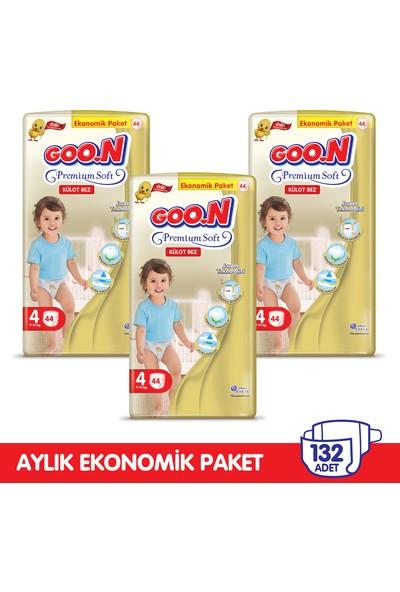 Goon Premium Soft Külot Bez 4 Beden Aylık Ekonomik Paket 132 Adet