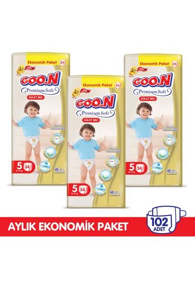 Goon Premium Soft Külot Bez 5 Beden Aylık Ekonomik Paket 102 Adet