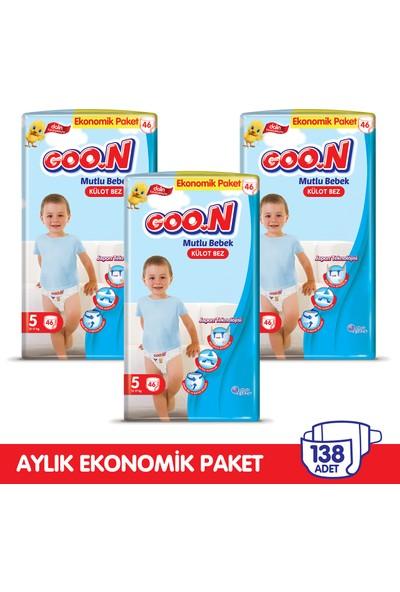 Goon Mutlu Bebek Külot Bez 5 Beden Aylık Ekonomik Paket 138 Adet