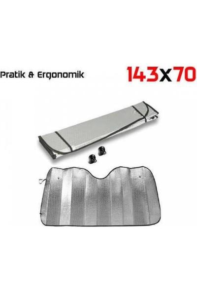 Pmx Oto Araç Güneşlik 143X70 Büyük Boy Ön Cam Güneşliği Metalize