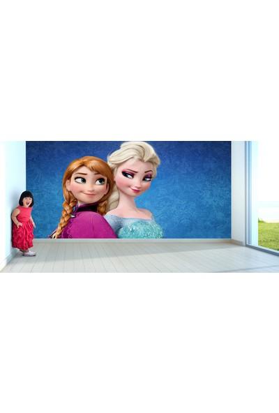 Moda Duvar Elsa ve Anna Frozen Çocuk Odası Vinil Duvar Kağıdı 100 x 100 cm ACF-60017201