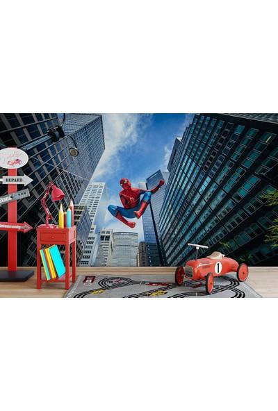 Moda Duvar Örümcek Adam Çocuk Odası Vinil Duvar Kağıdı 100 x 100 cm CCK-322