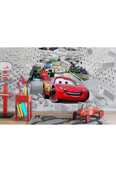 Moda Duvar Cars-Araba Çocuk Odası Vinil Duvar Kağıdı 300 x 260 cm CCK-78029-5