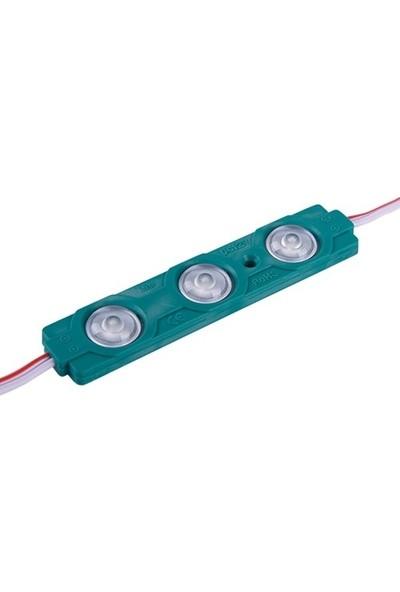 Kıraç Yeşil Üç Çipli Mercekli Modül LED 2835 1.5W 20'li