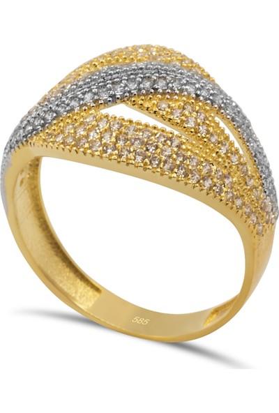 Cigold 14 Ayar Altın Taşlı Yüzük YZ0323050011