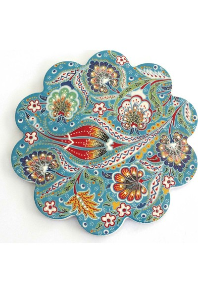 Ilbay 11 cm Mavi Desenli Çini Nihale