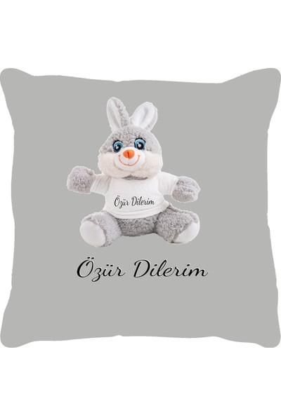 Özgüner 100 cm Beyaz Bobo Özür Dilerim Tavşan Yastık