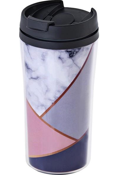 Allmug Iç-Dış Plastik Termos- Marble