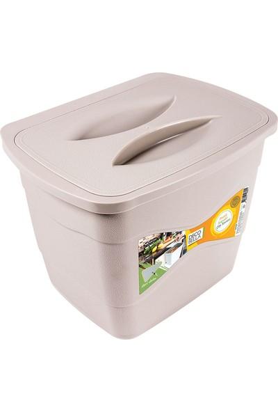 Zambak Askılı Kapaklı Çöp Kovası 6lt