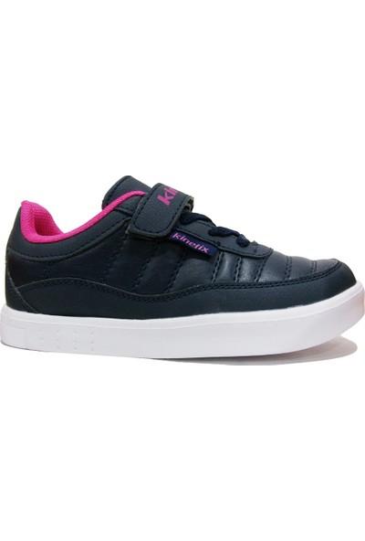 Kinetix Ernon Lacivert Fuşya Cırtlı Çocuk Spor Ayakkabı