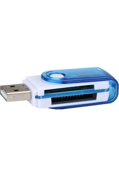 GOB2C Micro SD / TF M2 MMC SDHC MS Hafıza Kartı Mavi