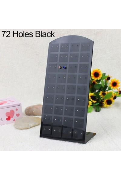 GOB2C 72 Delikli Plastik Takı Standı Siyah