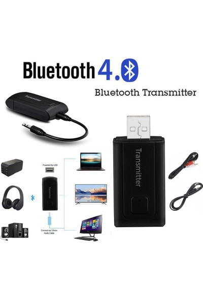 GOB2C TV Telefon PC için USB Kablosuz BT4.0 Verici Müzik Adaptörü Y1X2