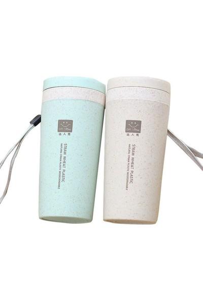 GOB2C 300 ml Taşınabilir Termos Açık Termal Fincan Kahve Spor Su Şişesi Kupa Bej