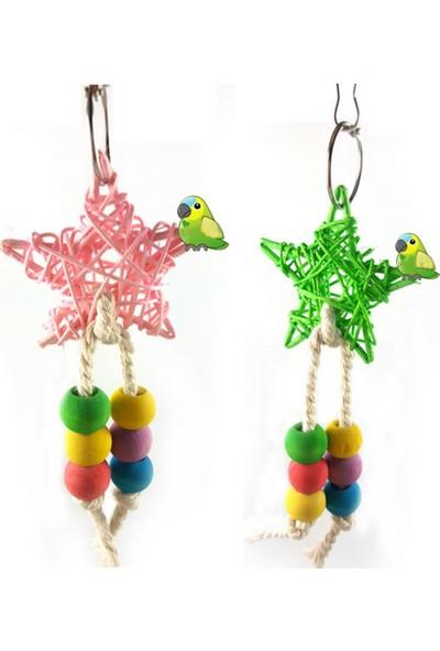 GOB2C Renkli Boncuklu Kuş Salıncağı