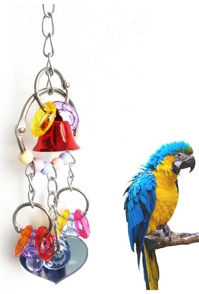 GOB2C Renkli Halkalı Zilli Kuş Salıncağı