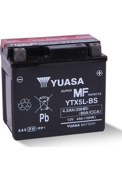 Yuasa YTX5L-BS Motosiklet Aküsü (Yamaha WR250F 2003-2007)