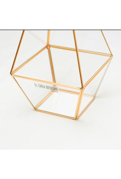 El Crea Designs El Yapımı Geometrik Teraryum Cam Fanus