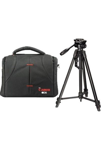 Canon 760D Fotoğraf Makinesi Için 157CM Tripod + Set Çanta