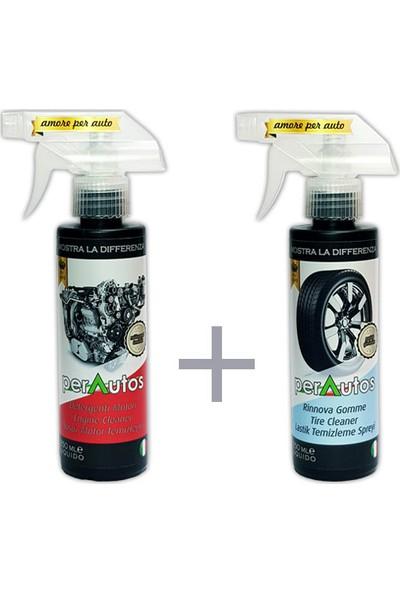 Perautos Susuz Motor Temizleme + Lastik Temizleme ve Parlatma