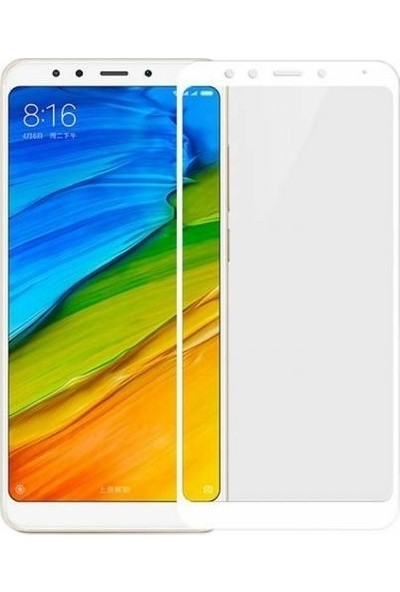 Melikzade Xiaomi Redmi 5 Plus 5D Tam Kaplayan Ekran Koruyucu Cam