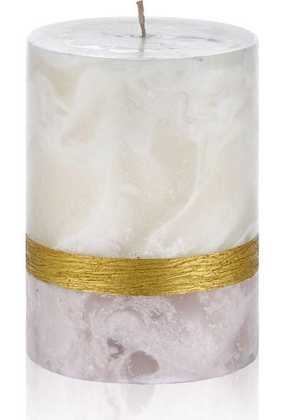Hepsi Home Mum - Marble - 103185 - Pudra Ekru - 10 x 13,5 cm
