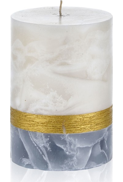 Hepsi Home Mum - Marble - 103186 - Ekru Gri - 10 x 13,5 cm