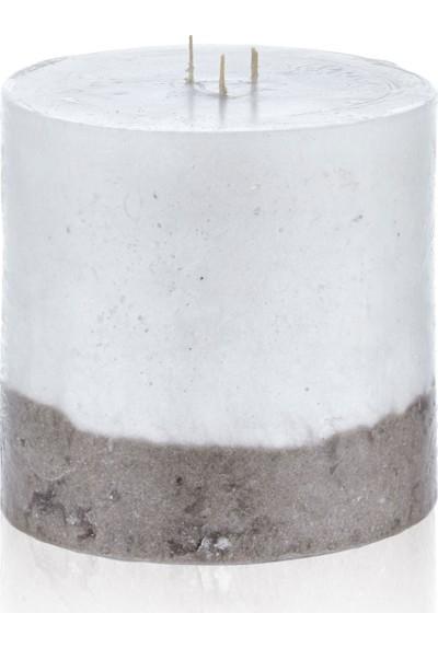 Hepsi Home Mum - Stone Line - 103173 - Ekru Vizon - 12 x 12 cm